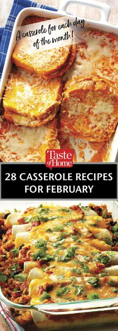 28 Casserole Recipes for February