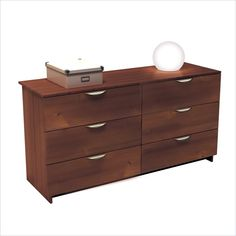 Nexera Nocce 6 Drawer Double Dresser in Truffle Finish - Find it at Cymax!