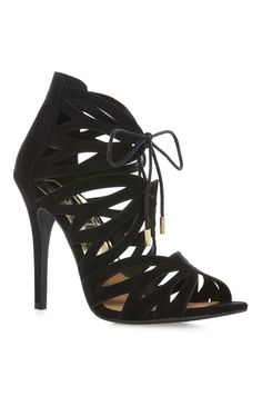 16 Primark - Black Ghillie Heel Sandal