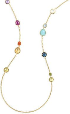Ippolita Rock Candy® Mixed Stone Long Necklace in Summer Rainbow, 40 Neiman Marcus Credit Card, Summer Rain, Station Necklace, Rock Candy, Handcrafted Jewelry, Tassel Necklace, Long Necklaces, Stone, Rainbows