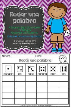 Rodar una palabra - Palabras de uso frecuente de Kindergarten