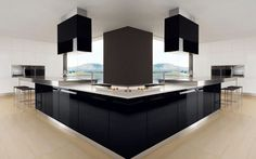 Beautiful Modern Black And White Kitchen Interior Futura Cucine Photo 1