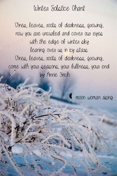 Winter Solstice Chant By Moon woman rising