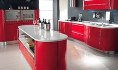 Red kitchen colors by last updated red kitchen cabinet colors . Red Kitchen Cabinets, Retro Kitchen, Red And White Kitchen, Kitchen Colors, Bright Room Colors, Kitchen Decor, White Kitchen Design, Interior Design Kitchen, Kitchen Color