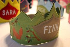 woodland birthday crown - for the boy (also... i sincerely hope that finn doesn't become too common of a name!)