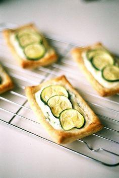 zucchini and ricotta tart