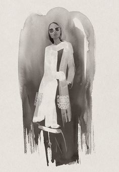 Fashion illustration - stylish fashion drawing for Swarovski // Cecilia Carlstedt