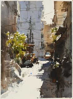 【 永和迷宮 】Watercolour by Chien Chung Wei,27X36 cm ,Demo.