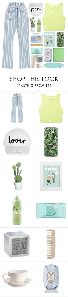 """fresh life"" by etheras ❤ liked on Polyvore featuring Frame Denim, Victoria's Secret, Topshop, Casetify, Time Bomb, MAC Cosmetics, Estée Lauder, LEXON, HAY and Bourg-Joly Malicorne"