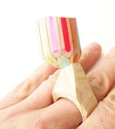 Pencil ring by M.Cristina Bellucci