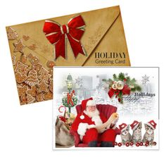 """""""Holiday Greeting Card"""" by queenvirgo on Polyvore featuring holidaygreetingcard and PVStyleInsiders"""