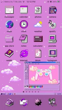 Windows 95, Windows Themes, Iphone Home Screen Layout, Iphone App Layout, Themes App, Phone Themes, Iphone Design, Iphone Wallpaper App, Aesthetic Iphone Wallpaper