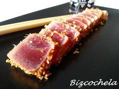 Tuna Tataki, Sushi Love, Tapas, Favorite Recipes, Pasta, Restaurant, Fish, Meat, Tasty Food Recipes