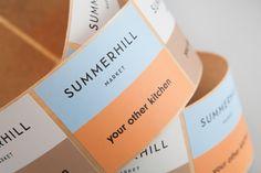 Summerhill Market by Blok, Canada. #branding #stickers
