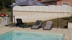 Clôture idéale pour cacher la vue des voisins sur sa piscine. Découvrez d'autres utilités sur notre page de réalisations. Patio, Outdoor Decor, Photos, Home Decor, Composite Fencing, Shutter, Court Yard, Pictures, Yard