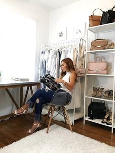 Today, I'm sharing my Closet + Office space on stilettobeats.com. Read more on how I turned this small room into my dream room.
