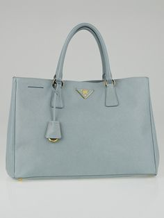 d8b758cb6c246 Prada Pale Blue Saffiano Lux Leather Large Tote Bag BN1844