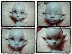 Dreamy includes four heads!! #Dreamy #head #mishisdoll #doll #BJD  #sthervivi #handmade #happy #sad #angry #slipping