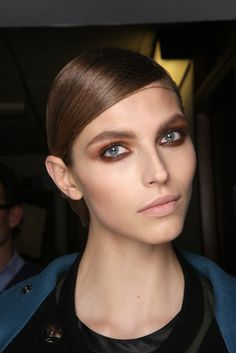 Backstage at Tom Ford Fall 2013 -