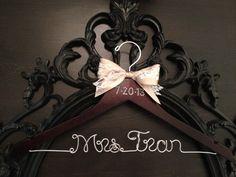Bridal Hanger / Brides Hanger / Vintage Hanger / Name by GetHungUp, $32.00