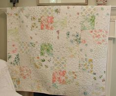 Quilt made out of vintage sheets