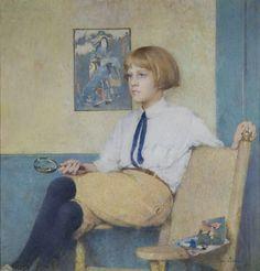 Emil Carlsen Portrait of Dines Carlsen (also called Portrait of Dines No. 3), 1914