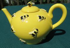 Department 56 BUZZ Tea Pot Yellow with Figural Bees   eBay