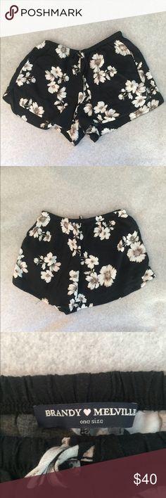 Brandy Melville Soft Shorts - never worn Brandy Melville Soft shorts with Hawaiin print - never worn Brandy Melville Shorts