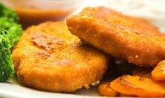 Tempt fussy eaters with these crunchy chicken and lentil patties. They have enough chicken to keep the kids interested and plenty of hidden vegetables to keep Mum happy! Toddler Meals, Kids Meals, Easy Meals, Toddler Food, Toddler Recipes, Baby Food Recipes, Snack Recipes, Free Recipes, Madeleine