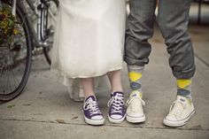Forget the uncomfortable heels. I've been wearing converse for as long as I can remember. I'm going to be wearing them at my wedding too :) Cute Converse, Converse Sneakers, Wedding Sneakers, Wedding Shoes, Wedding Pics, Wedding Blog, Wedding Ideas, Wedding Stuff, Wedding Fun