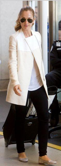 Minka Kelly: Jacket – Maje  Sunglasses – Ray Ban  Purse – Coach  Shoes – Chloe