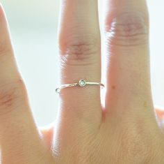 Diamond Ring Sterling Silver Promise Rings For by BlueRidgeNotions