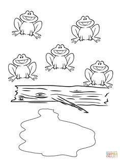 Frog Coloring Pages for Kids. 20 Frog Coloring Pages for Kids. Coloring Pages Free Printable Frog Coloring for Kids Monkey Coloring Pages, Preschool Coloring Pages, Free Printable Coloring Pages, Coloring Worksheets, Coloring Pictures For Kids, Coloring Pages For Kids, Kids Coloring, Free Coloring, Colouring