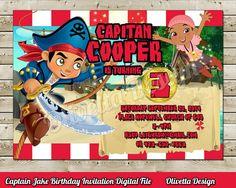 Capitan Jake y Los Piratas Invitacion para cumpleaños