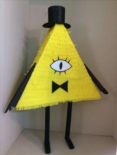 Gravity Falls party, piñata, Bill