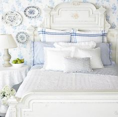 35 reasons why I love decorating with blue and white - The Enchanted Home -- Ralph Lauren gets it.