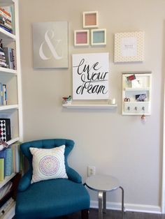 Just finished putting together the wall in my home office… Love it!