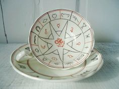 Fortune Telling Teal Leaf cup and saucer - want!