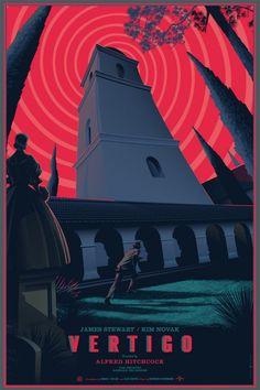 Laurent Durieux Vertigo Movie Poster of the Year 2014 Vertigo Poster, Vertigo Movie, Cinema Posters, Film Posters, Graphic Posters, Vintage Cartoon, Vintage Movies, Laurent Durieux, Tv Movie