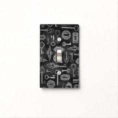 Shop Steampunk Keys and Key Holes Light Switch Cover created by BlueRose_Design. Custom Lighting, Light Switch Covers, Plates On Wall, Light Up, Colorful Backgrounds, Keys, Steampunk, Retro, Silver