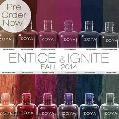 Zoya fall collection Entice and Ignite.