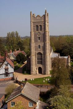 England Travel Inspiration - Eye in Suffolk , England. The Suffolk village is well known for the huge Medeival tower that dominates the skyline for miles around