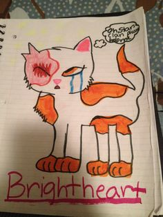 Brightheart For the contest Candler Of Thunderclan Warrior Cat Drawings, Bright, Cats, Heart, Gatos, Cat, Kitty, Hearts, Kitty Cats
