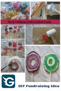 Rock Lollipops From Crushed Candy Diy Craft For Your Fundraising Event Link