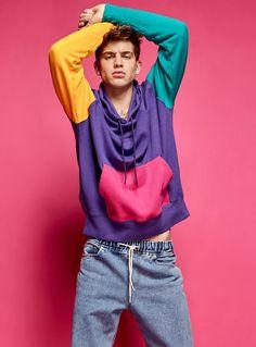 Sweats et kangourous pour Homme Color Blocking, Colour Block, 1980s Fashion Trends, Tommy Hilfiger, Mens Sweatshirts, Hoodies, Mens Fashion, Fashion Outfits, Fashion Ideas