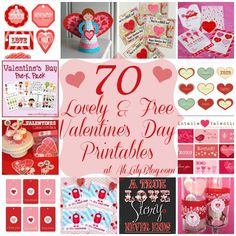 Free Printables | 70 Free Valentine's Printables from Ali Lily