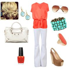 Pops of Color, created by lcbsjb on Polyvore