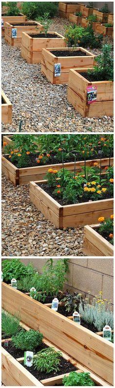 Tips Gardening: Ideas : Mini-raised beds