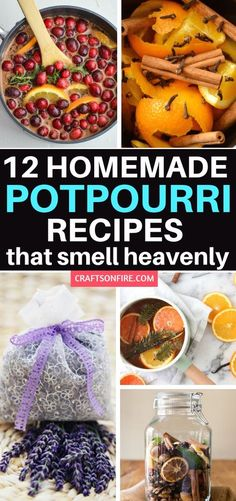 Nothing beats homemade potpourri with that blast of sweet smelling scents to welcome you home. Make your very own potpourri with these easy recipes that only need a few ingredients! Includes simmering and dried potpourri recipes too! How To Make Potpourri, Homemade Potpourri, Potpourri Recipes, Homemade Gifts, Homemade Products, Stove Top Potpourri, Simmering Potpourri, Fall Potpourri, House Smell Good