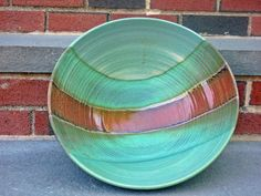 Large Pottery Bowl Large Pottery Fruit Bowl by FromCJsWheel